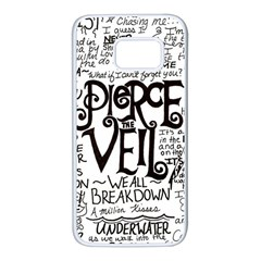 Pierce The Veil Music Band Group Fabric Art Cloth Poster Samsung Galaxy S7 White Seamless Case by Samandel
