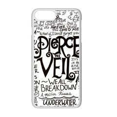 Pierce The Veil Music Band Group Fabric Art Cloth Poster Apple Iphone 8 Plus Seamless Case (white) by Samandel