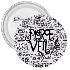 Pierce The Veil Music Band Group Fabric Art Cloth Poster 3  Buttons by Samandel