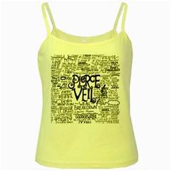 Pierce The Veil Music Band Group Fabric Art Cloth Poster Yellow Spaghetti Tank by Samandel
