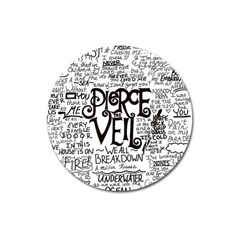 Pierce The Veil Music Band Group Fabric Art Cloth Poster Magnet 3  (round) by Samandel