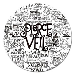 Pierce The Veil Music Band Group Fabric Art Cloth Poster Magnet 5  (round)