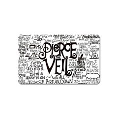 Pierce The Veil Music Band Group Fabric Art Cloth Poster Magnet (name Card) by Samandel