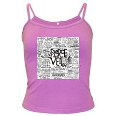 Pierce The Veil Music Band Group Fabric Art Cloth Poster Dark Spaghetti Tank