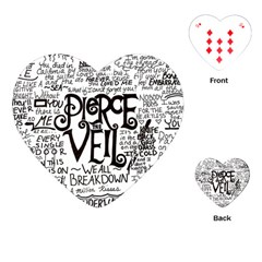 Pierce The Veil Music Band Group Fabric Art Cloth Poster Playing Cards (heart)  by Samandel