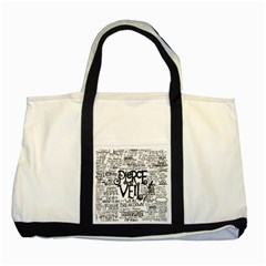 Pierce The Veil Music Band Group Fabric Art Cloth Poster Two Tone Tote Bag