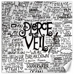 Pierce The Veil Music Band Group Fabric Art Cloth Poster Canvas 12  X 12   by Samandel