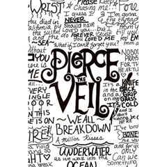 Pierce The Veil Music Band Group Fabric Art Cloth Poster 5 5  X 8 5  Notebooks by Samandel