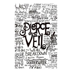 Pierce The Veil Music Band Group Fabric Art Cloth Poster Shower Curtain 48  X 72  (small)  by Samandel