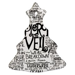 Pierce The Veil Music Band Group Fabric Art Cloth Poster Christmas Tree Ornament (two Sides) by Samandel