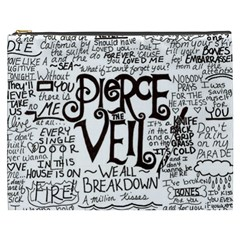 Pierce The Veil Music Band Group Fabric Art Cloth Poster Cosmetic Bag (xxxl)