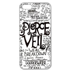 Pierce The Veil Music Band Group Fabric Art Cloth Poster Apple Seamless Iphone 5 Case (clear) by Samandel
