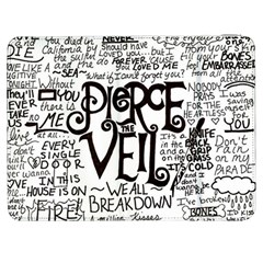 Pierce The Veil Music Band Group Fabric Art Cloth Poster Samsung Galaxy Tab 7  P1000 Flip Case