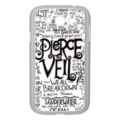 Pierce The Veil Music Band Group Fabric Art Cloth Poster Samsung Galaxy Grand Duos I9082 Case (white) by Samandel