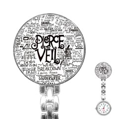Pierce The Veil Music Band Group Fabric Art Cloth Poster Stainless Steel Nurses Watch