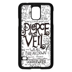 Pierce The Veil Music Band Group Fabric Art Cloth Poster Samsung Galaxy S5 Case (black) by Samandel