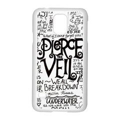 Pierce The Veil Music Band Group Fabric Art Cloth Poster Samsung Galaxy S5 Case (white) by Samandel