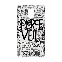 Pierce The Veil Music Band Group Fabric Art Cloth Poster Samsung Galaxy Note 4 Hardshell Case by Samandel