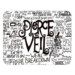 Pierce The Veil Music Band Group Fabric Art Cloth Poster Double Sided Flano Blanket (large)  by Samandel