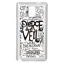 Pierce The Veil Music Band Group Fabric Art Cloth Poster Samsung Galaxy Note 4 Case (white) by Samandel