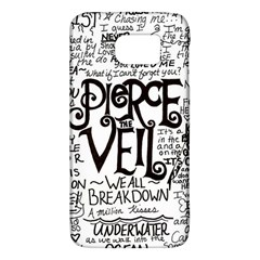 Pierce The Veil Music Band Group Fabric Art Cloth Poster Galaxy S6 by Samandel