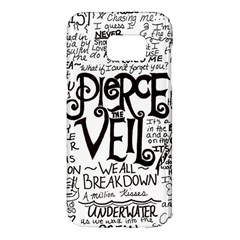 Pierce The Veil Music Band Group Fabric Art Cloth Poster Samsung Galaxy S7 Edge Hardshell Case by Samandel