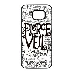 Pierce The Veil Music Band Group Fabric Art Cloth Poster Samsung Galaxy S7 Edge Black Seamless Case by Samandel