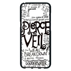 Pierce The Veil Music Band Group Fabric Art Cloth Poster Samsung Galaxy S8 Plus Black Seamless Case by Samandel