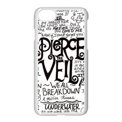 Pierce The Veil Music Band Group Fabric Art Cloth Poster Apple Iphone 8 Seamless Case (white)