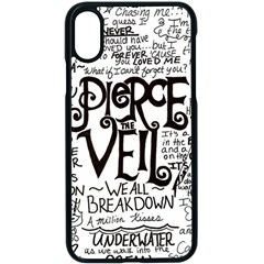 Pierce The Veil Music Band Group Fabric Art Cloth Poster Apple Iphone X Seamless Case (black) by Samandel