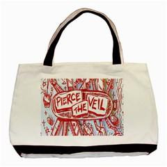 Pierce The Veil  Misadventures Album Cover Basic Tote Bag by Samandel