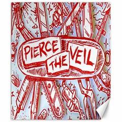 Pierce The Veil  Misadventures Album Cover Canvas 20  X 24   by Samandel