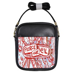 Pierce The Veil  Misadventures Album Cover Girls Sling Bags