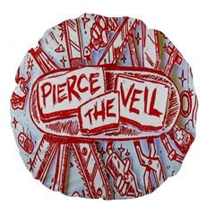 Pierce The Veil  Misadventures Album Cover Large 18  Premium Round Cushions by Samandel