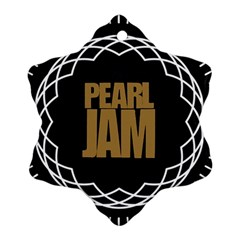 Pearl Jam Logo Snowflake Ornament (two Sides)