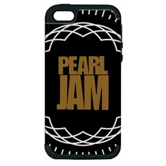 Pearl Jam Logo Apple Iphone 5 Hardshell Case (pc+silicone)