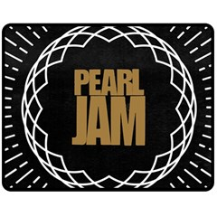 Pearl Jam Logo Double Sided Fleece Blanket (medium)