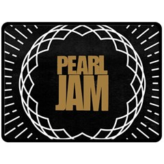 Pearl Jam Logo Double Sided Fleece Blanket (large)