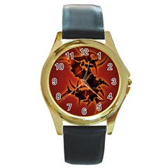 Sepultura Heavy Metal Hard Rock Bands Round Gold Metal Watch