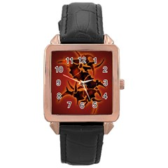 Sepultura Heavy Metal Hard Rock Bands Rose Gold Leather Watch