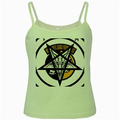 Satanic Warmaster Black Metal Heavy Dark Occult Pentagran Satan Green Spaghetti Tank