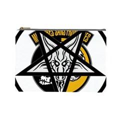 Satanic Warmaster Black Metal Heavy Dark Occult Pentagran Satan Cosmetic Bag (large)