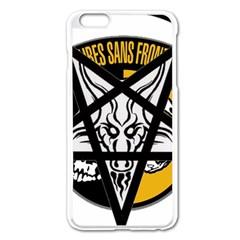 Satanic Warmaster Black Metal Heavy Dark Occult Pentagran Satan Apple Iphone 6 Plus/6s Plus Enamel White Case