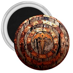 Queensryche Heavy Metal Hard Rock Bands Logo On Wood 3  Magnets