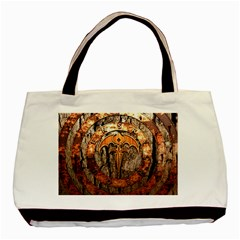 Queensryche Heavy Metal Hard Rock Bands Logo On Wood Basic Tote Bag