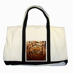Queensryche Heavy Metal Hard Rock Bands Logo On Wood Two Tone Tote Bag