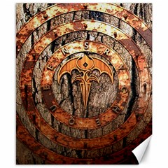 Queensryche Heavy Metal Hard Rock Bands Logo On Wood Canvas 8  X 10