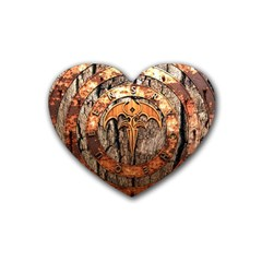 Queensryche Heavy Metal Hard Rock Bands Logo On Wood Heart Coaster (4 Pack)  by Samandel