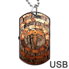 Queensryche Heavy Metal Hard Rock Bands Logo On Wood Dog Tag Usb Flash (one Side)