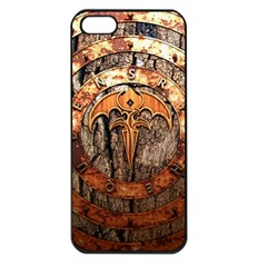 Queensryche Heavy Metal Hard Rock Bands Logo On Wood Apple Iphone 5 Seamless Case (black)